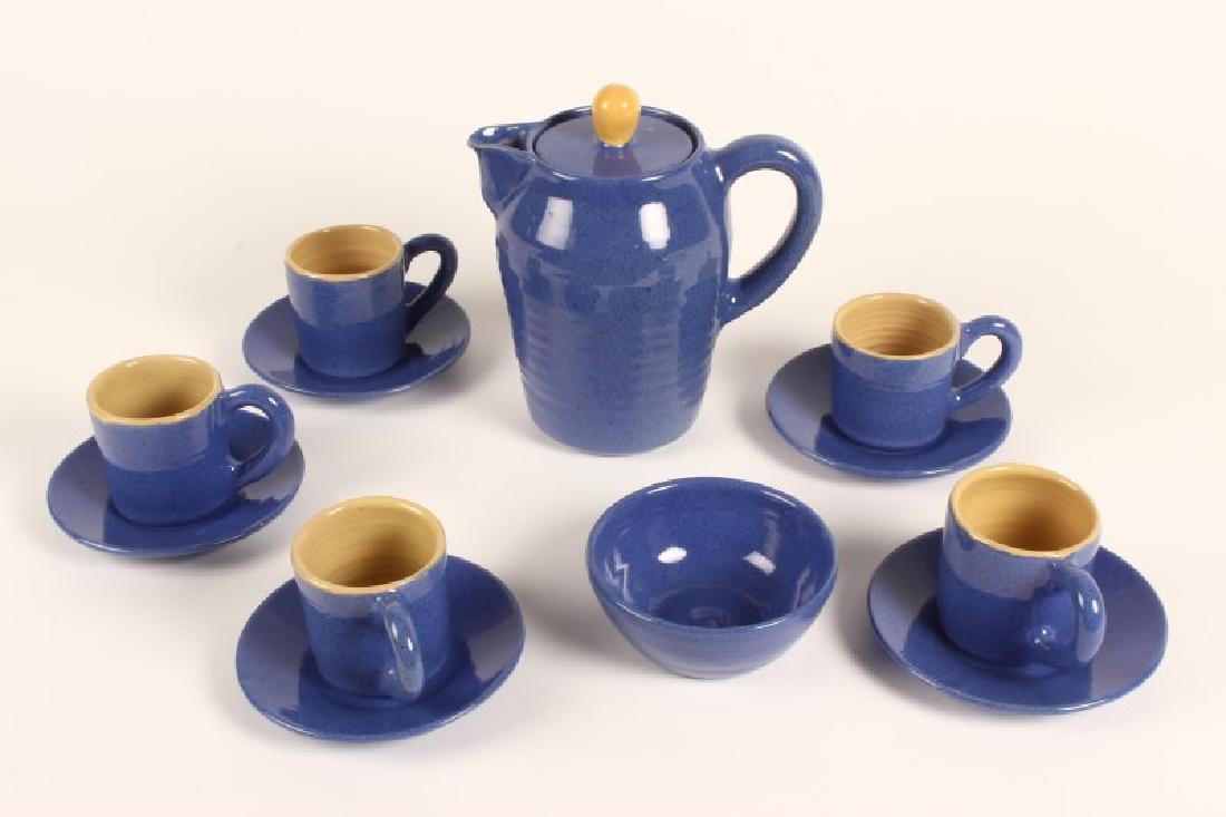 Australian Pottery Tea Set by Allan Lowe,
