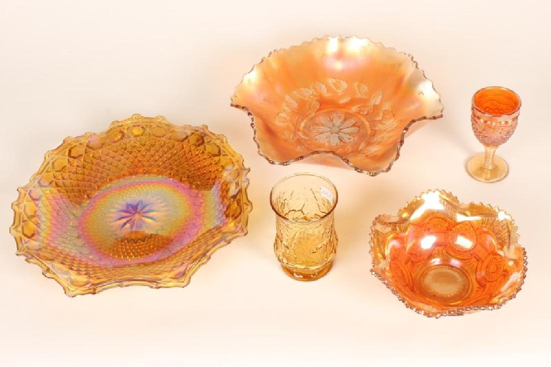 Two Carnival Glass Dishes,