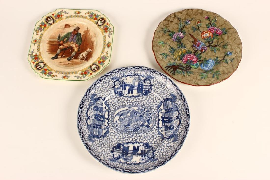 Three English Cabinet Plates,