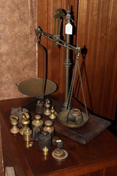 Edwardian Set of Brass Scales,