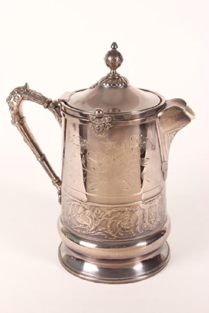 Large Edwardian Silver Plate Hot Water Jug,