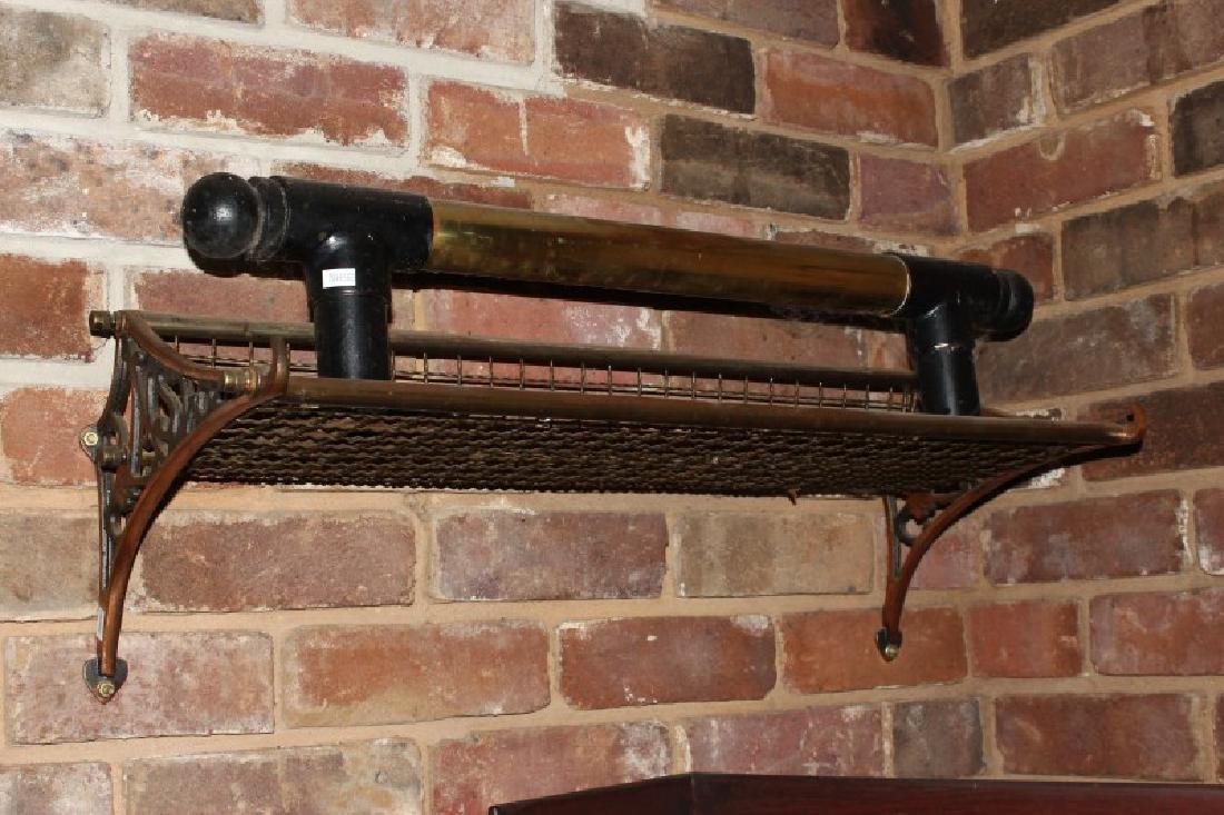 Bronze and Wire Railways Luggage Rack,
