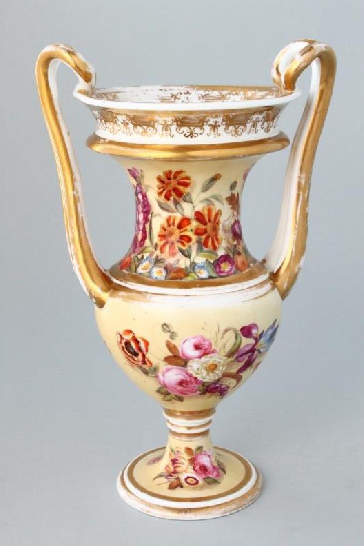 19th Century Spode Porcelain Twin Handled Vase,