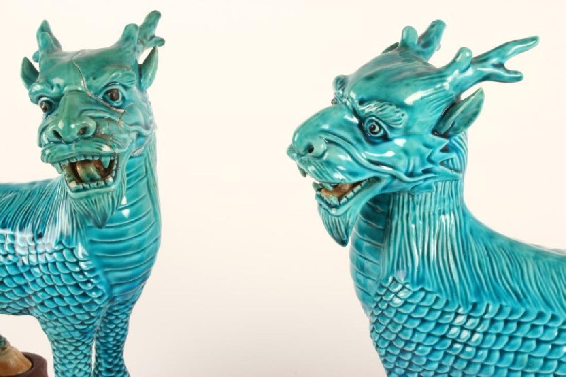 Pair of Chinese Foo Dogs, - 2