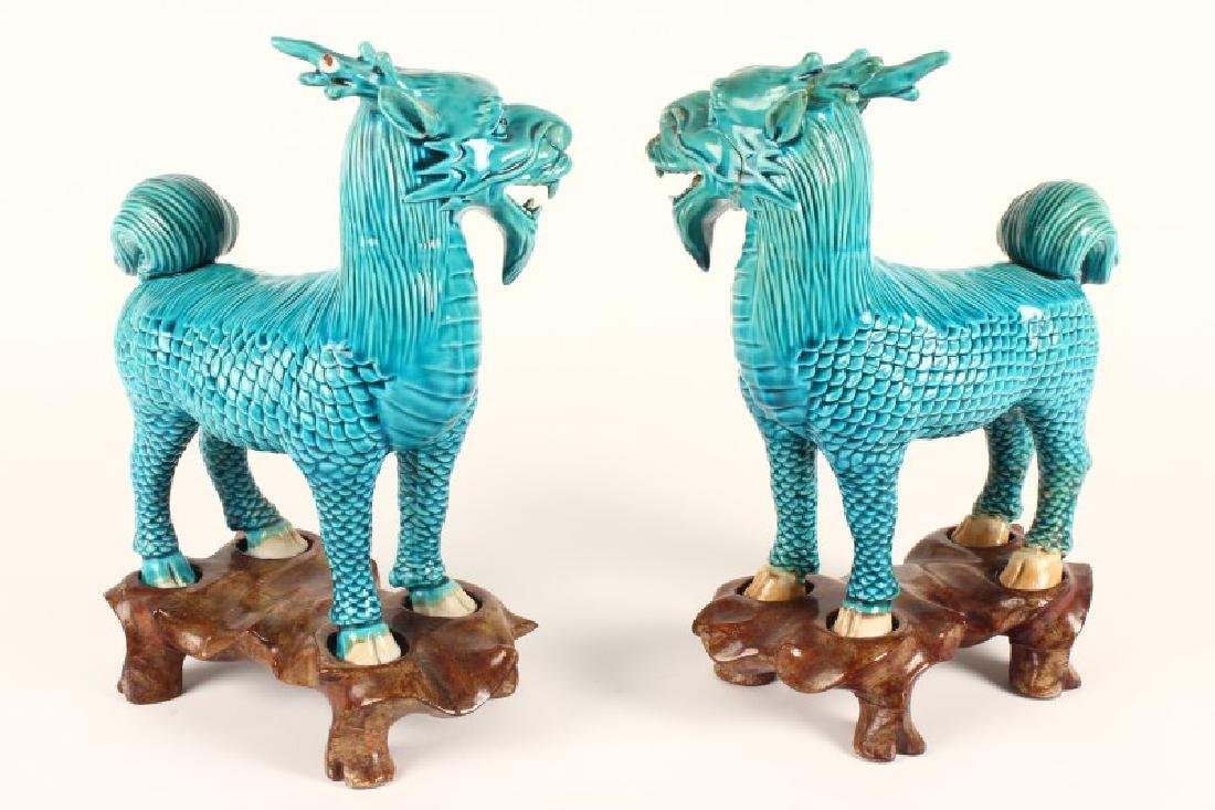 Pair of Chinese Foo Dogs, - 4