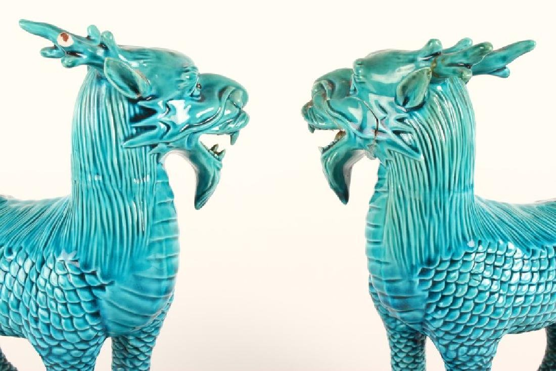 Pair of Chinese Foo Dogs, - 5
