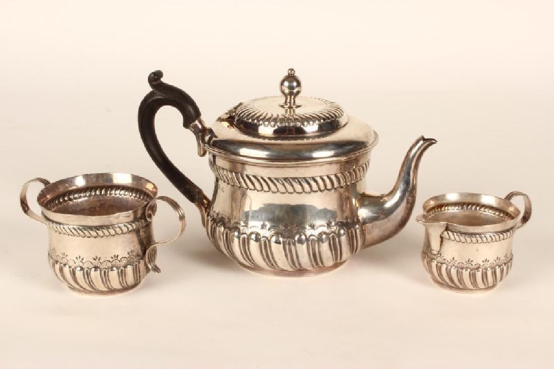 Victorian Sterling Silver Bachelors Tea Set,
