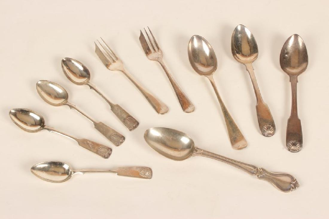 Group of Assorted Silver Teaspoons,