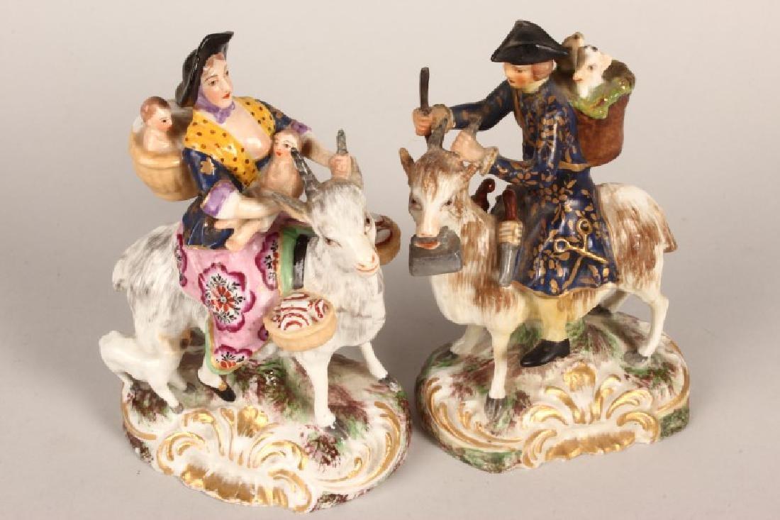 Pair of 19th Century Derby Porcelain Figures, - 3