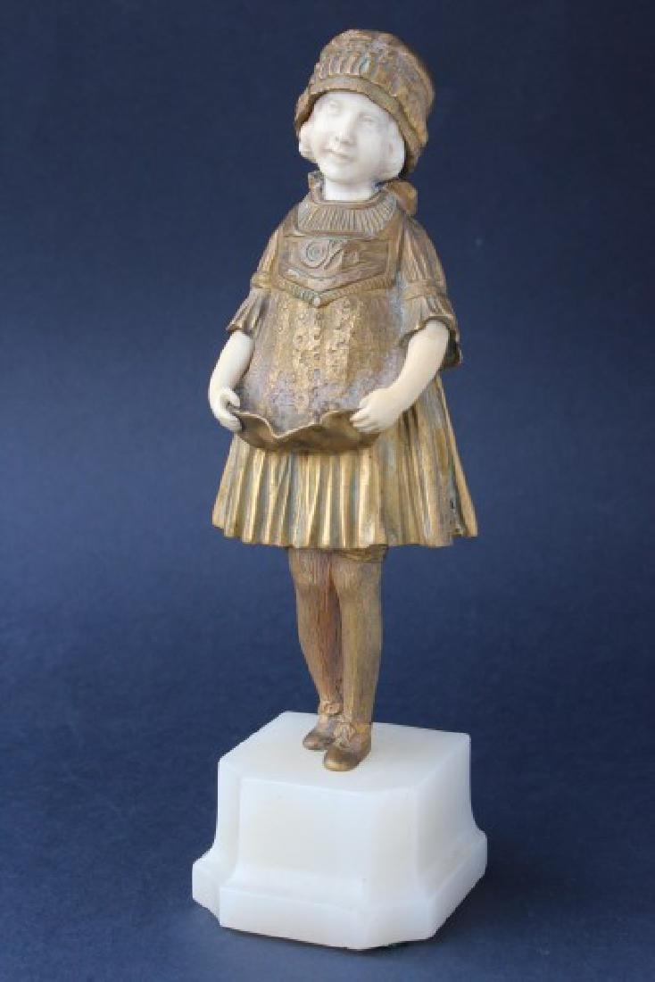 Demetre Chiparus (1886-1947) Art Deco Bronze Figure,