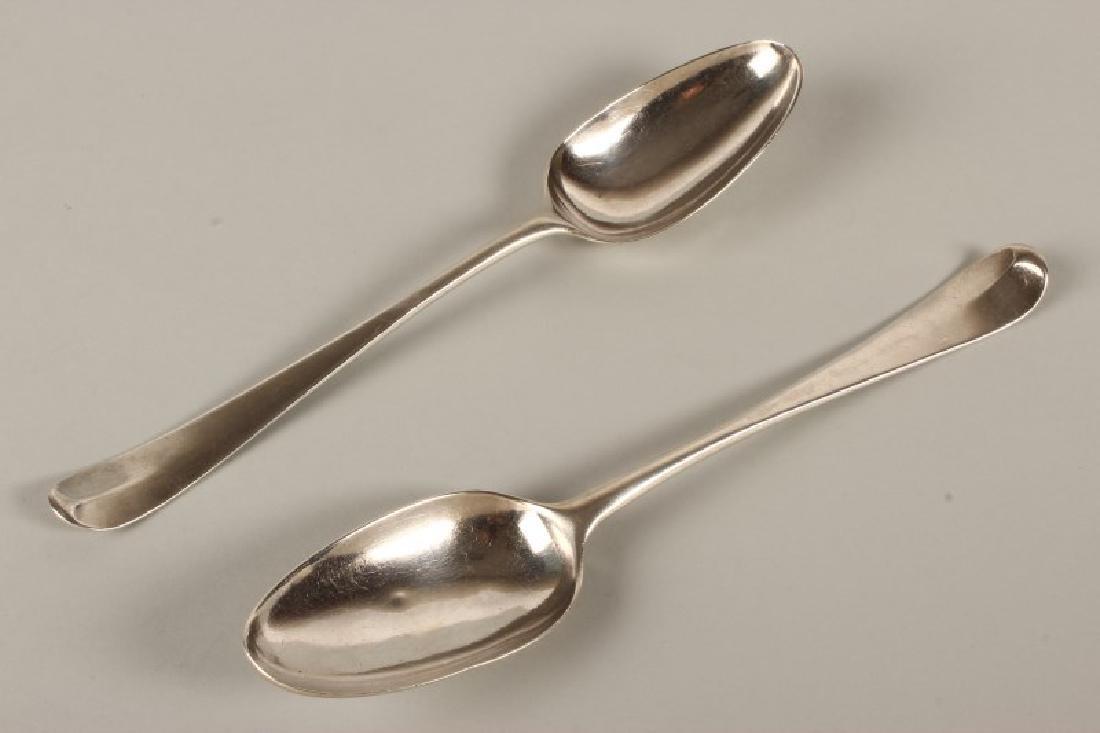 Pair of George III Sterling Silver Table Spoons,