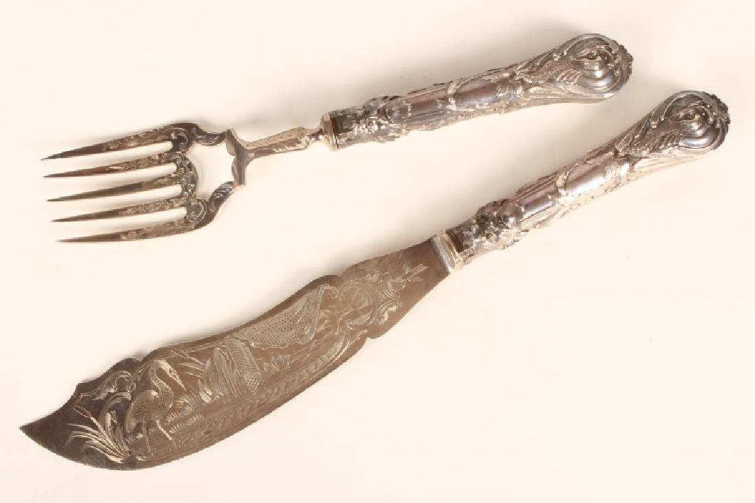 Pair of Victorian Sterling Silver Fish Servers