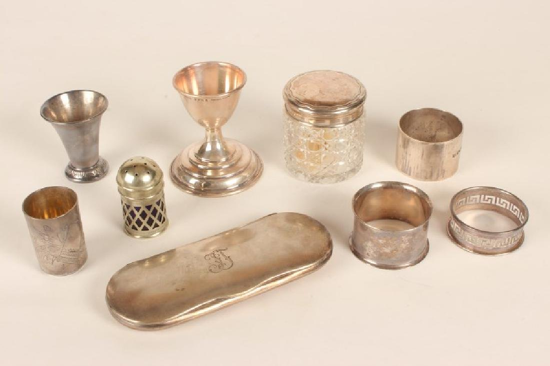 Group of Small Silver and Silver Plate Items,