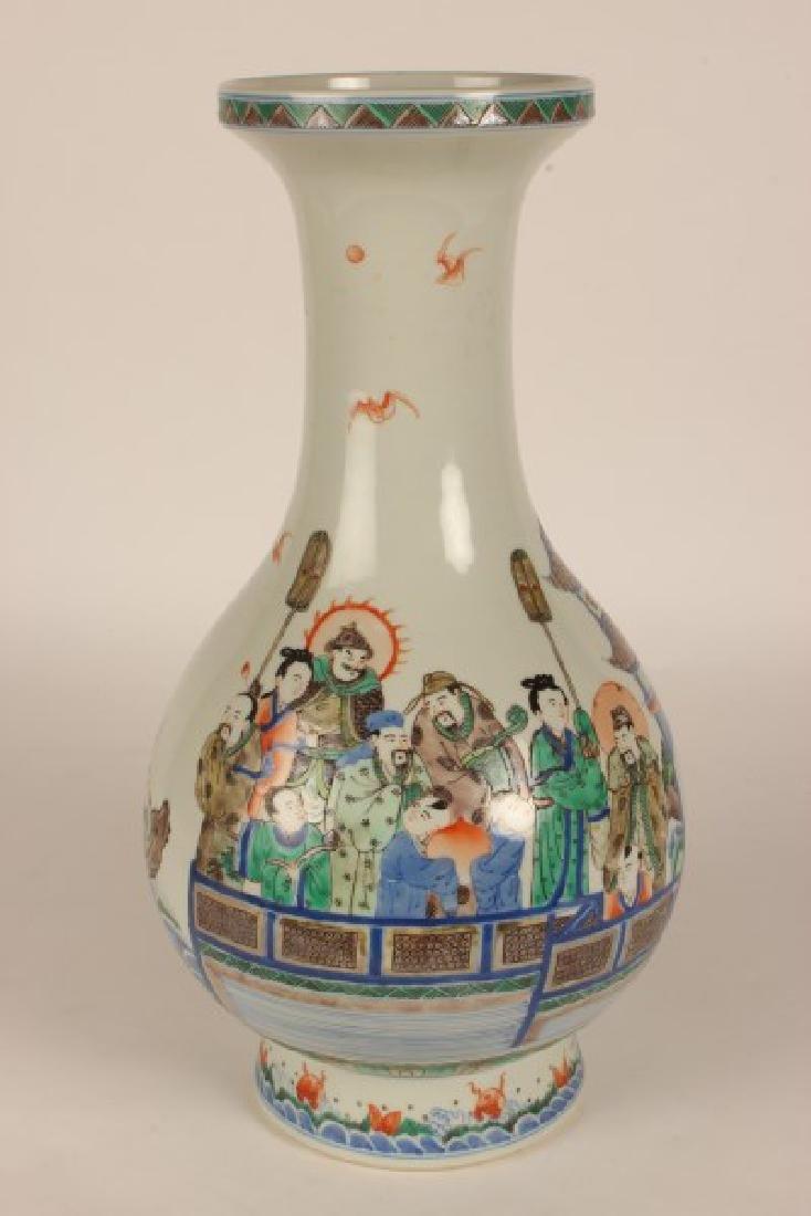 Chinese Famille Vert Porcelain Vase,