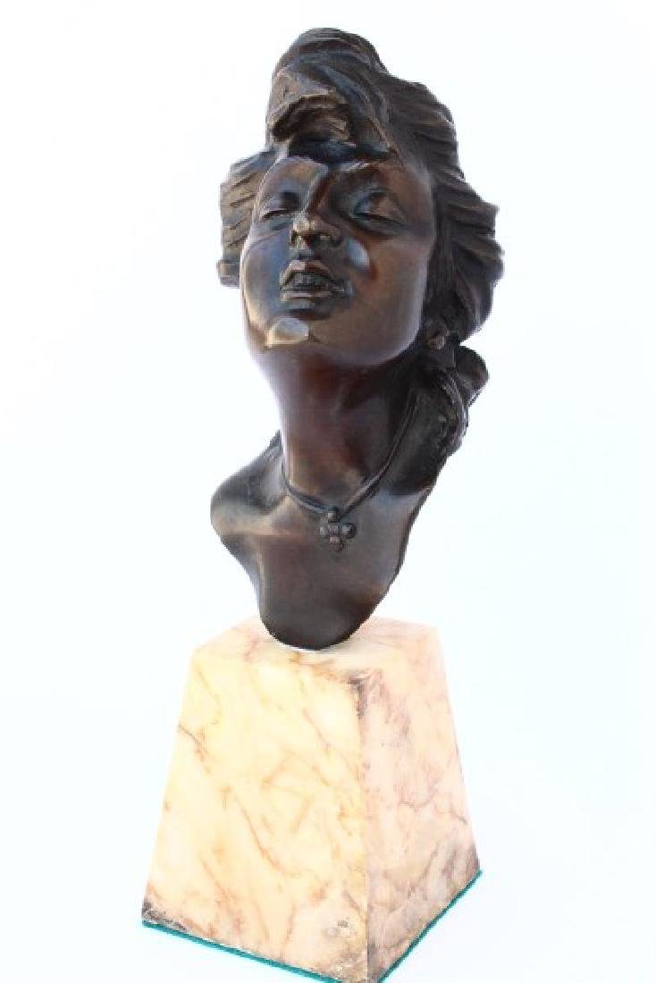 French Bronze Bust,