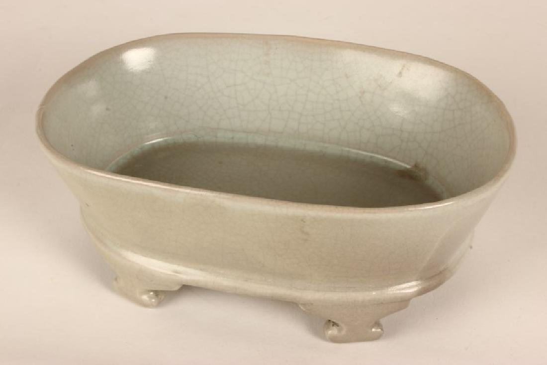 Chinese Porcelain Footed Dish,