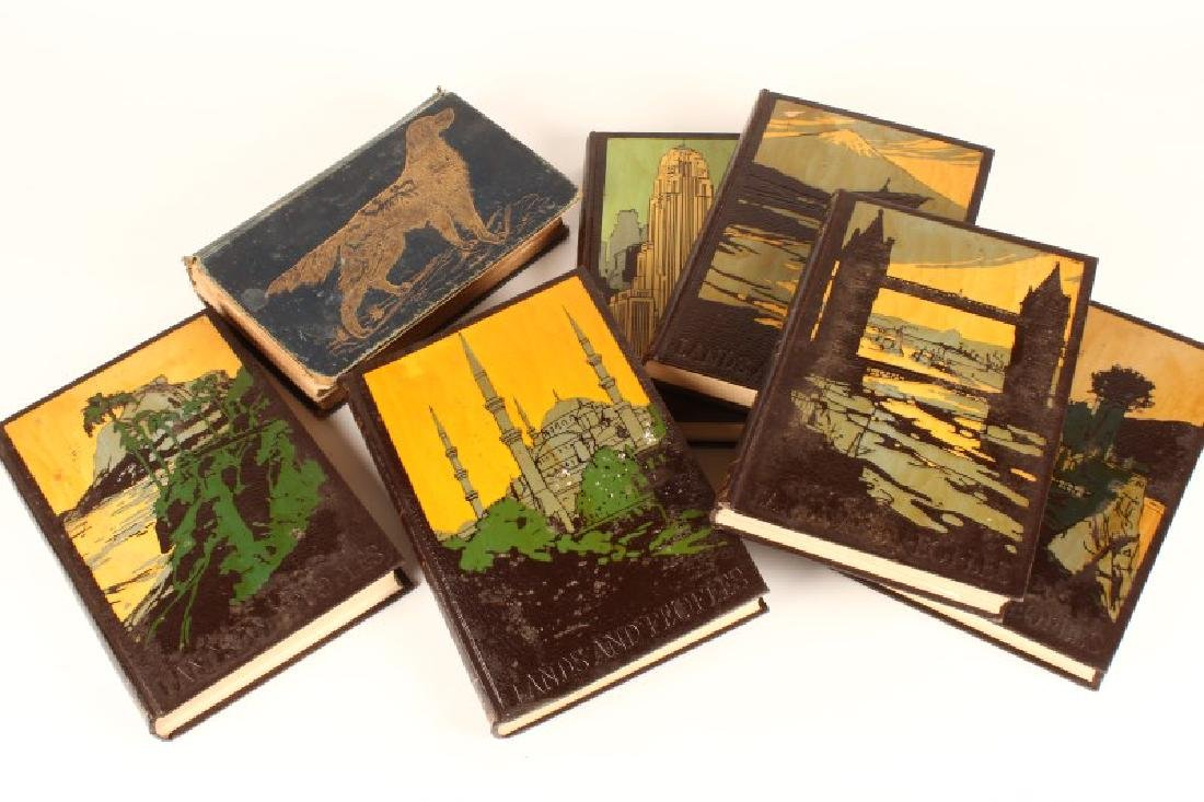 Set of Six Leather Bound Books,
