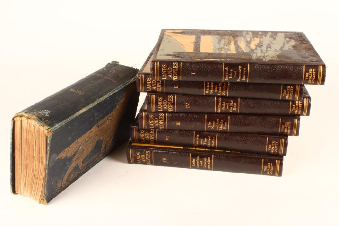 Set of Six Leather Bound Books, - 3