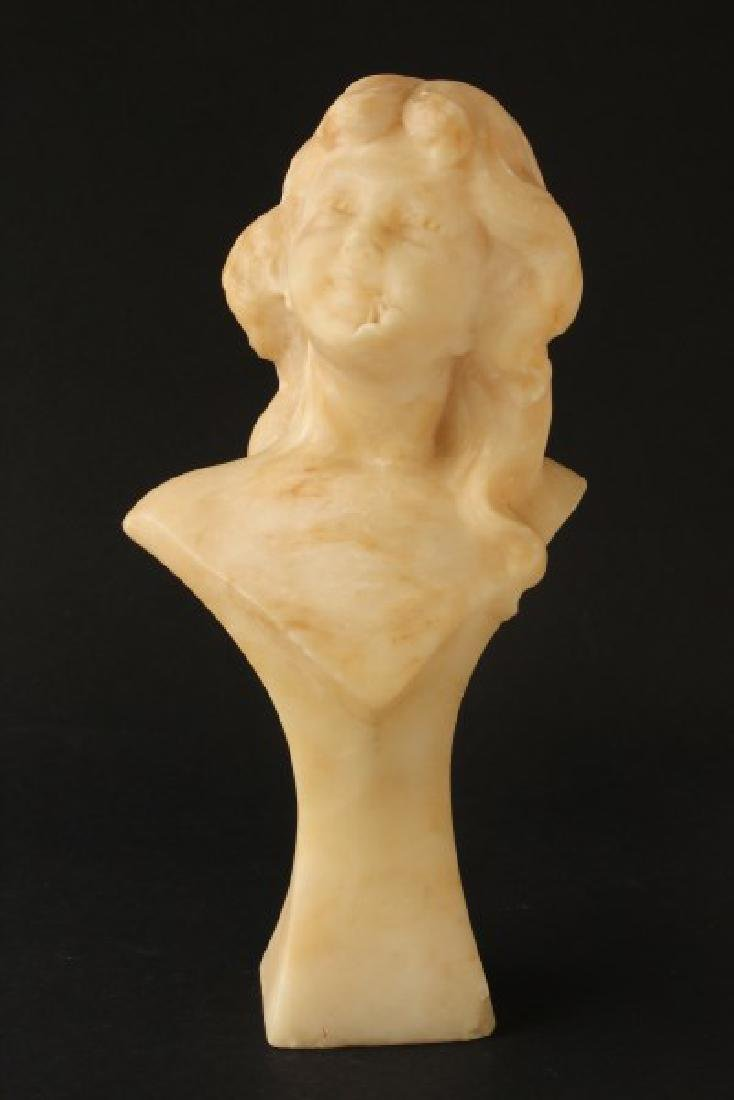 French Alabaster Bust,