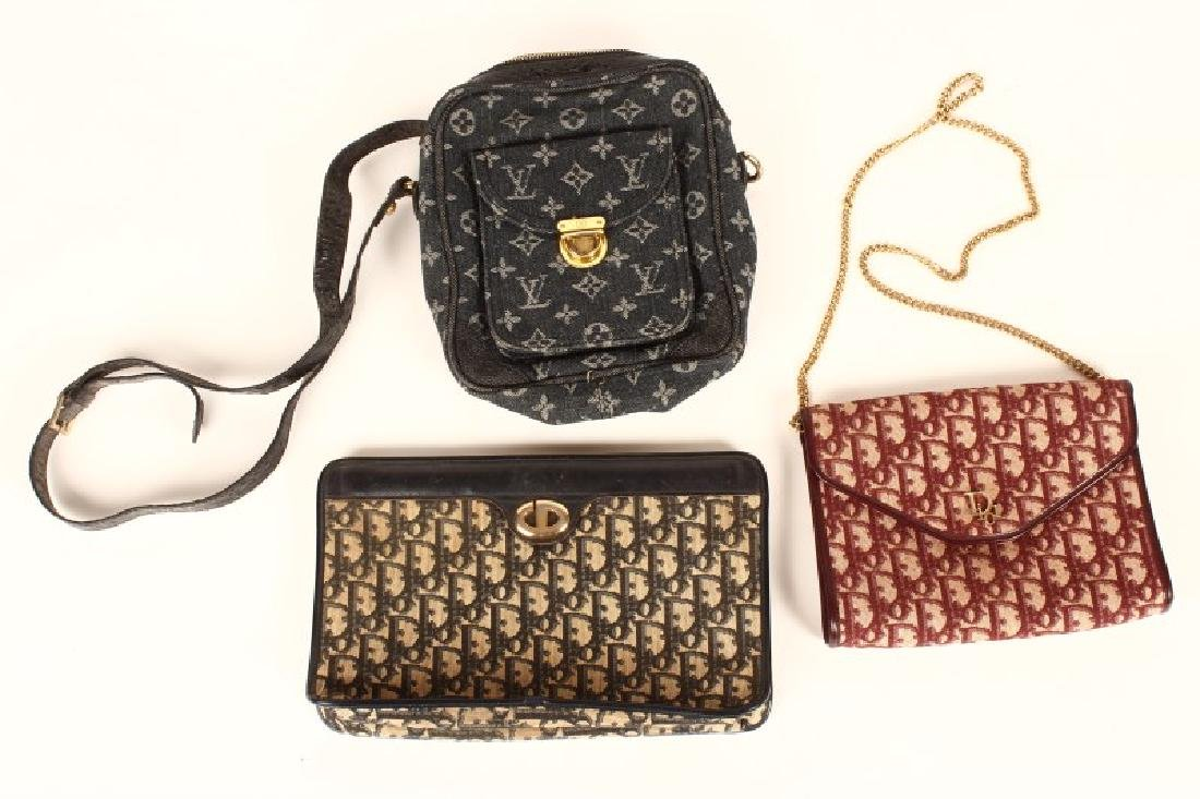 Three Vintage Designer Fabric Handbags,