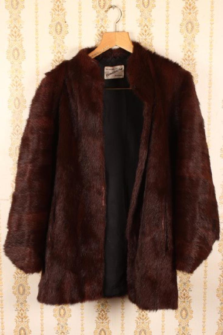 Three Quarter Length Marmott Fur Coat,