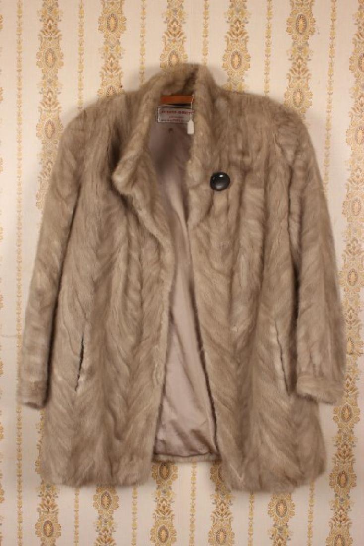 Three Length Grey Mink Coat,