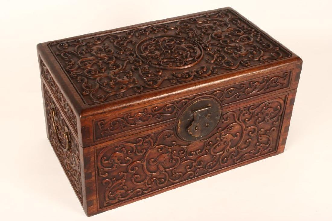 Pair of Chinese Wooden Jewelry Chests, - 2