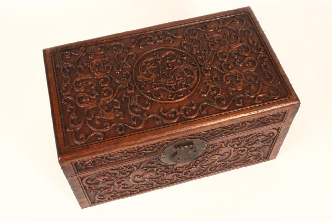 Pair of Chinese Wooden Jewelry Chests, - 3