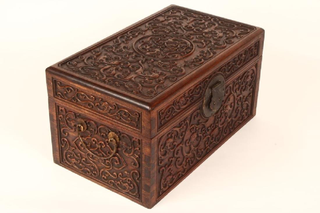 Pair of Chinese Wooden Jewelry Chests, - 4