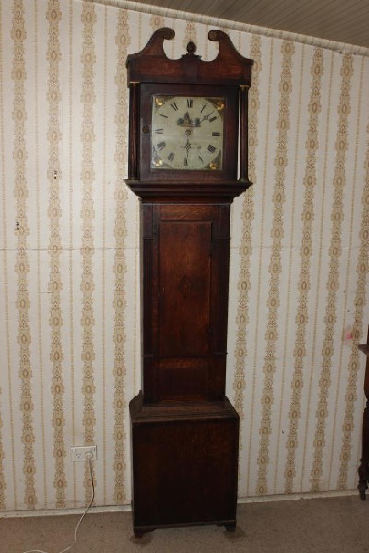 George III Oak Longcase Clock,