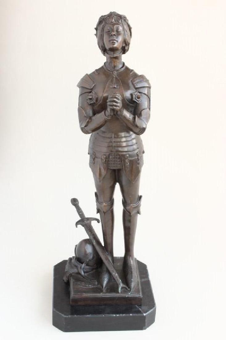 Bronze Figure of Joan of Arc,