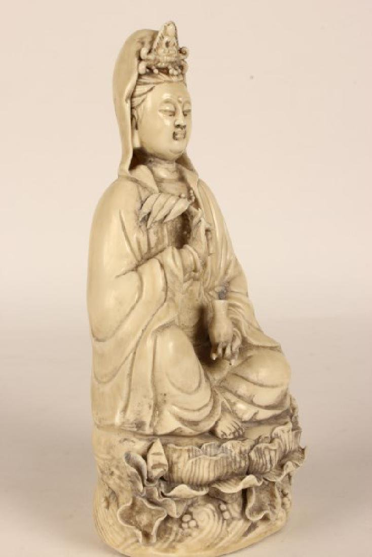 Chinese Blanc De Chine Kwan Yin, - 3