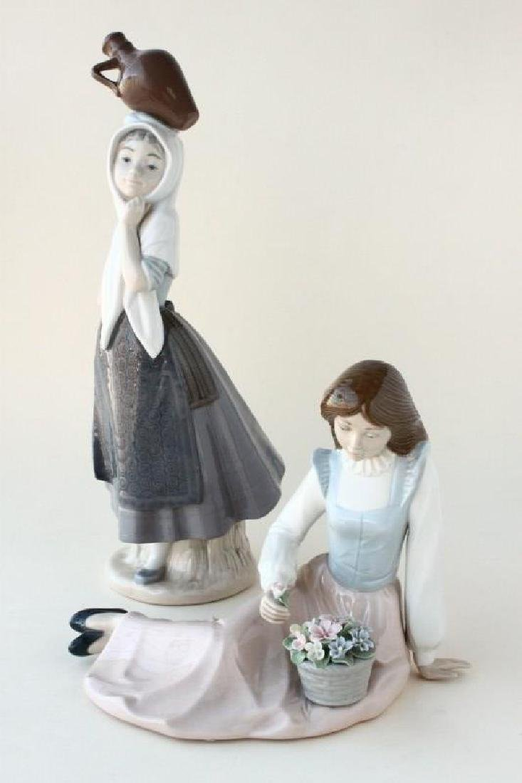 Two Nao Porcelain Ladies,
