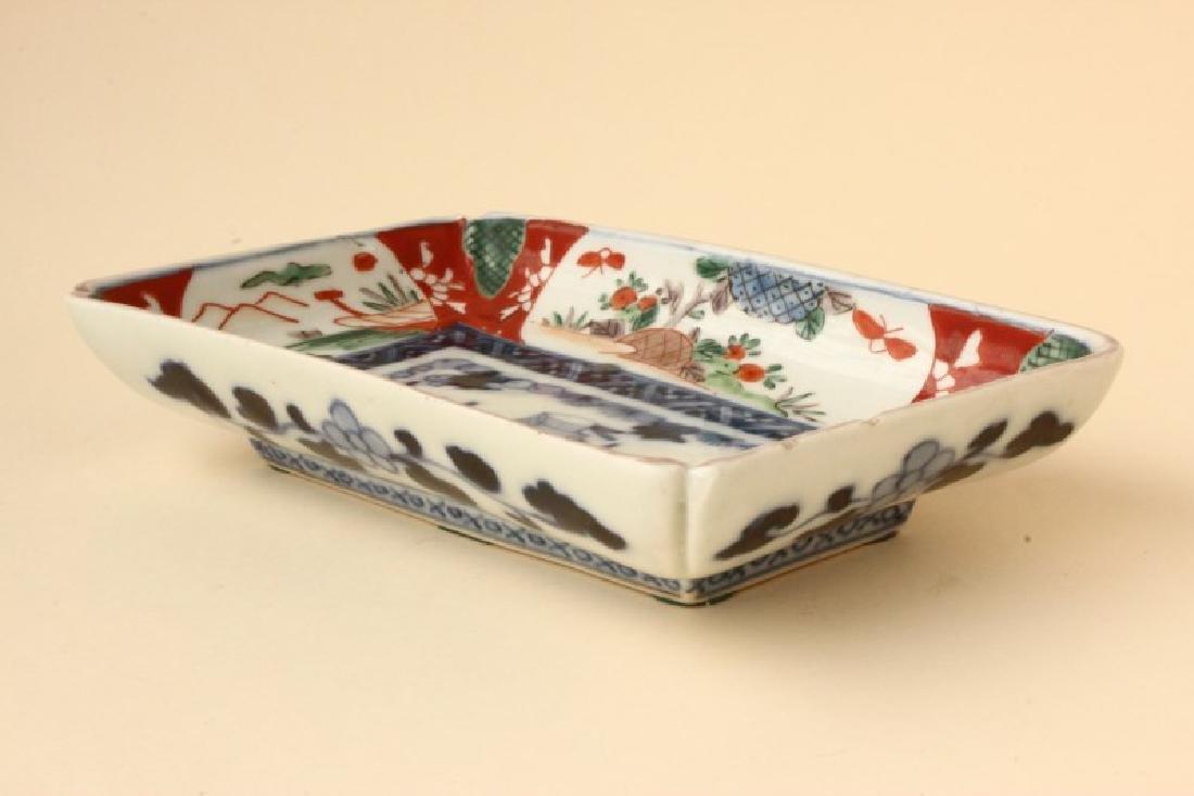Japanese Imari Rectangular dish, - 2