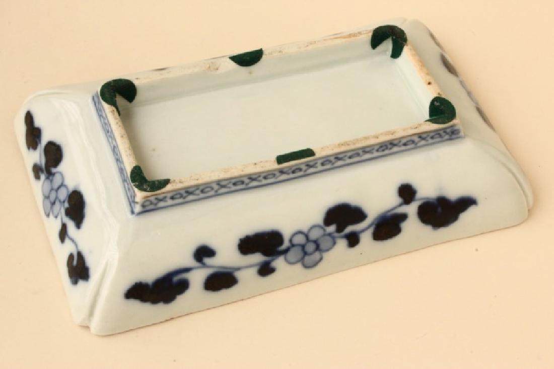 Japanese Imari Rectangular dish, - 3