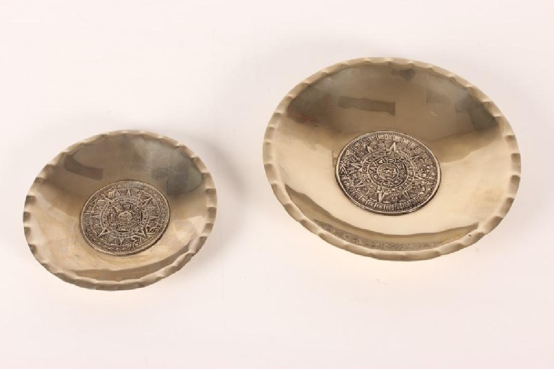 Two Mexican Silver Dishes,
