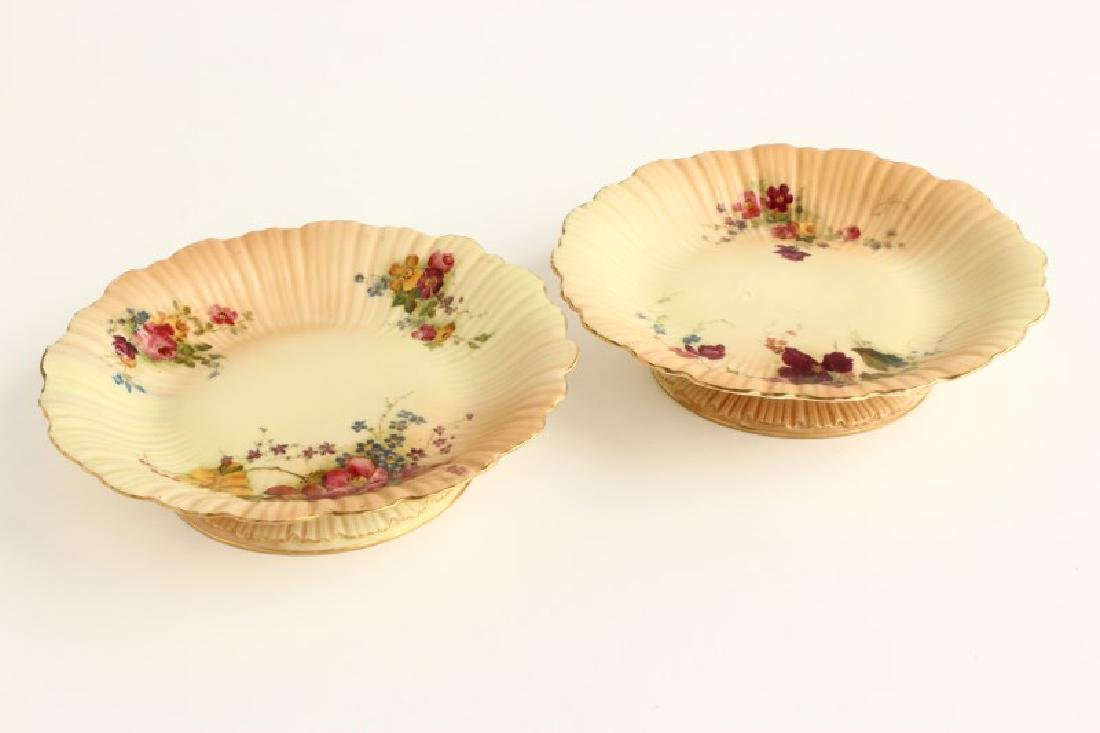 Pair of Royal Worcester Porcelain Tazzas,