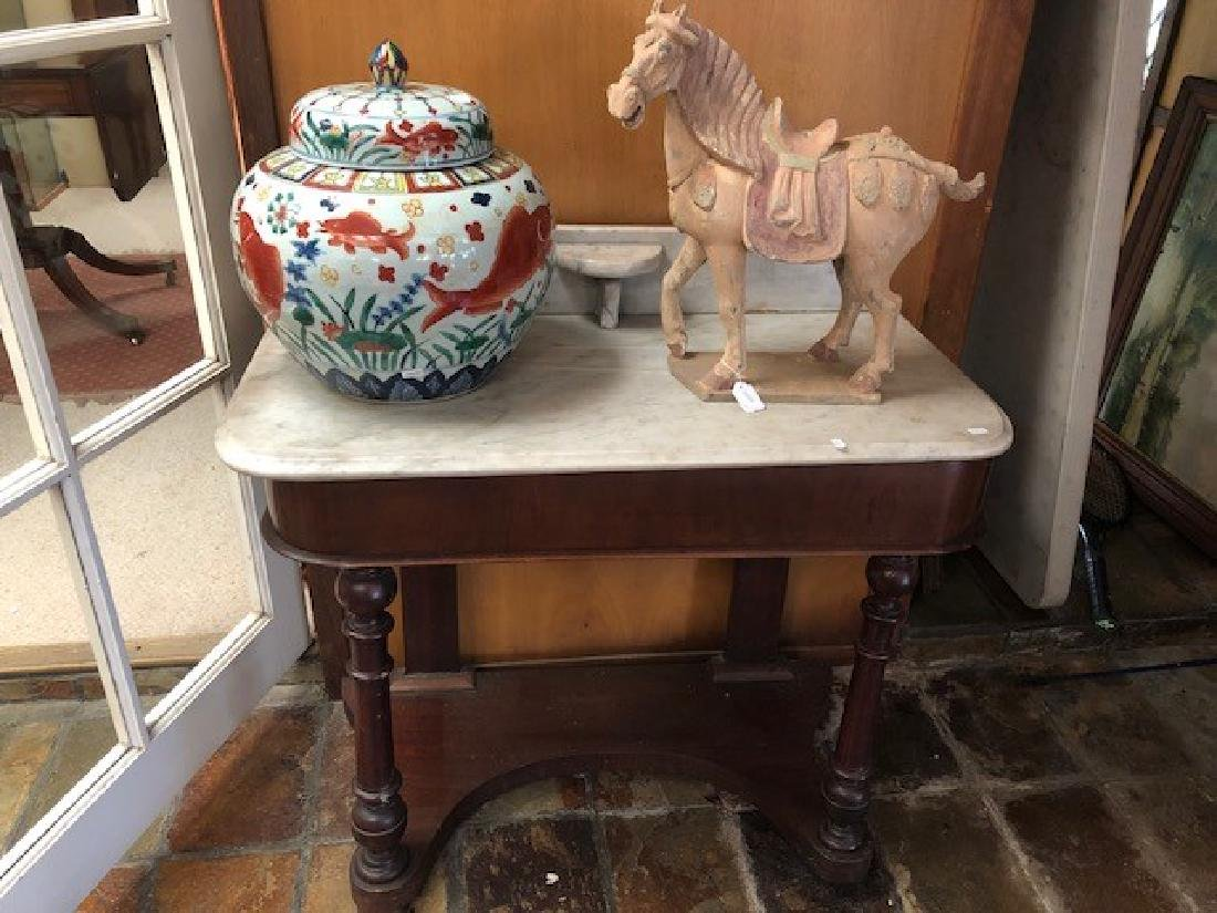 Victorian Marble Top Wash stand,