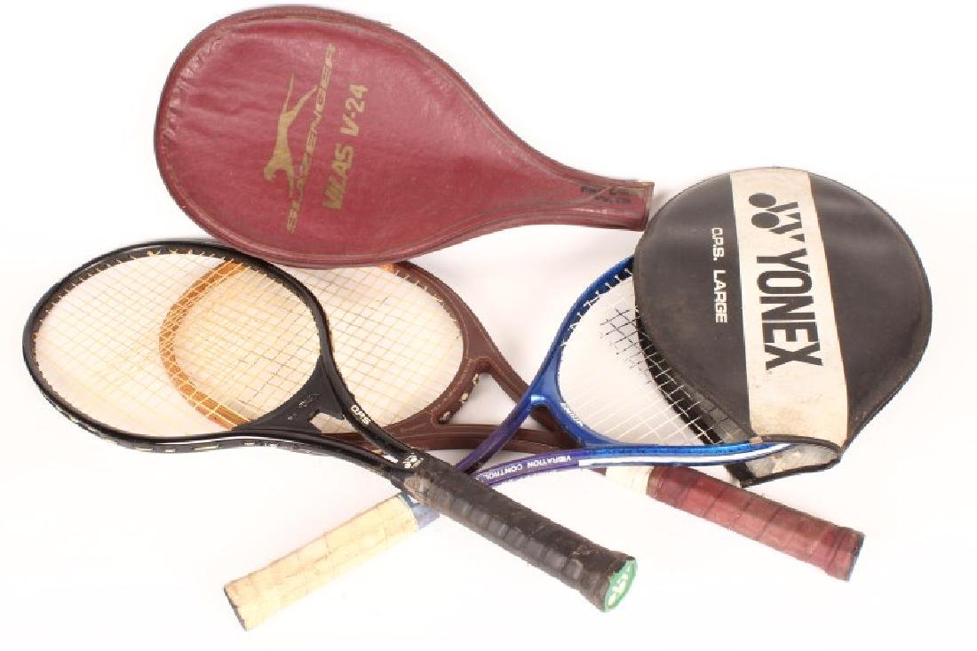 Three Vintage Tennis Rackets,