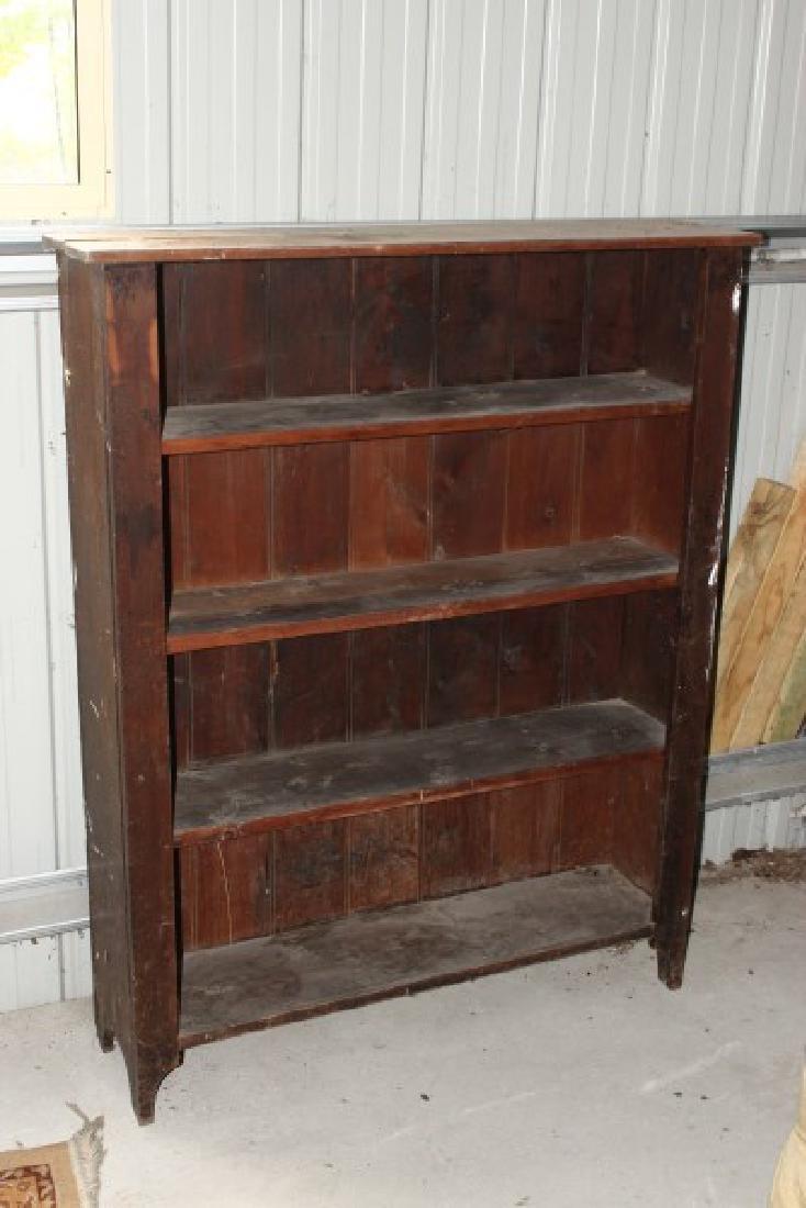 Oak Standing Bookshelf,