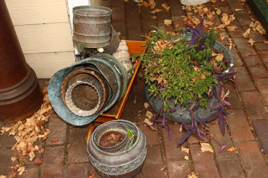 Quantity of Assorted Metal Pots and Coal Scuttle,