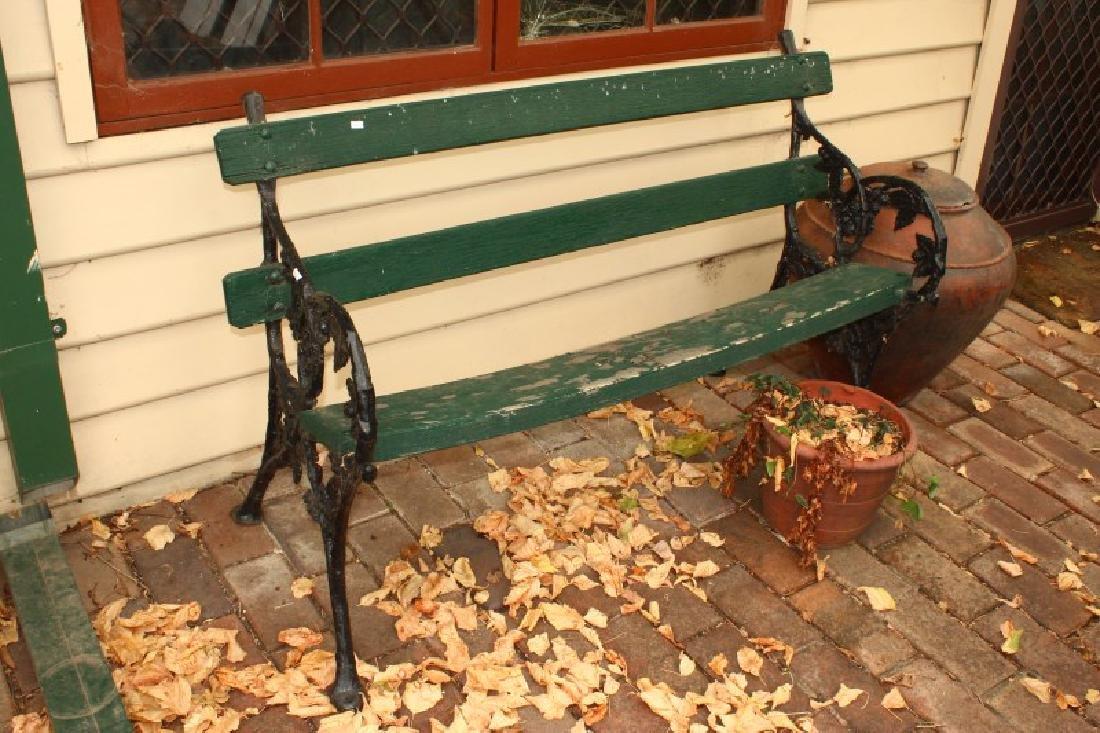 Coalbrookdale Cast Iron Garden Bench,