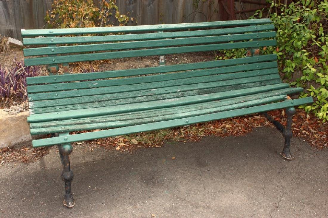 Good Cast Iron Garden Bench,
