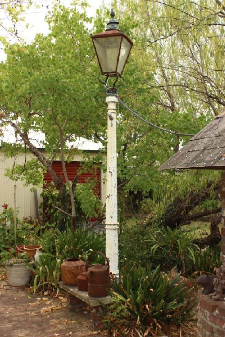 Victorian Cast Iron Gas Street Light,