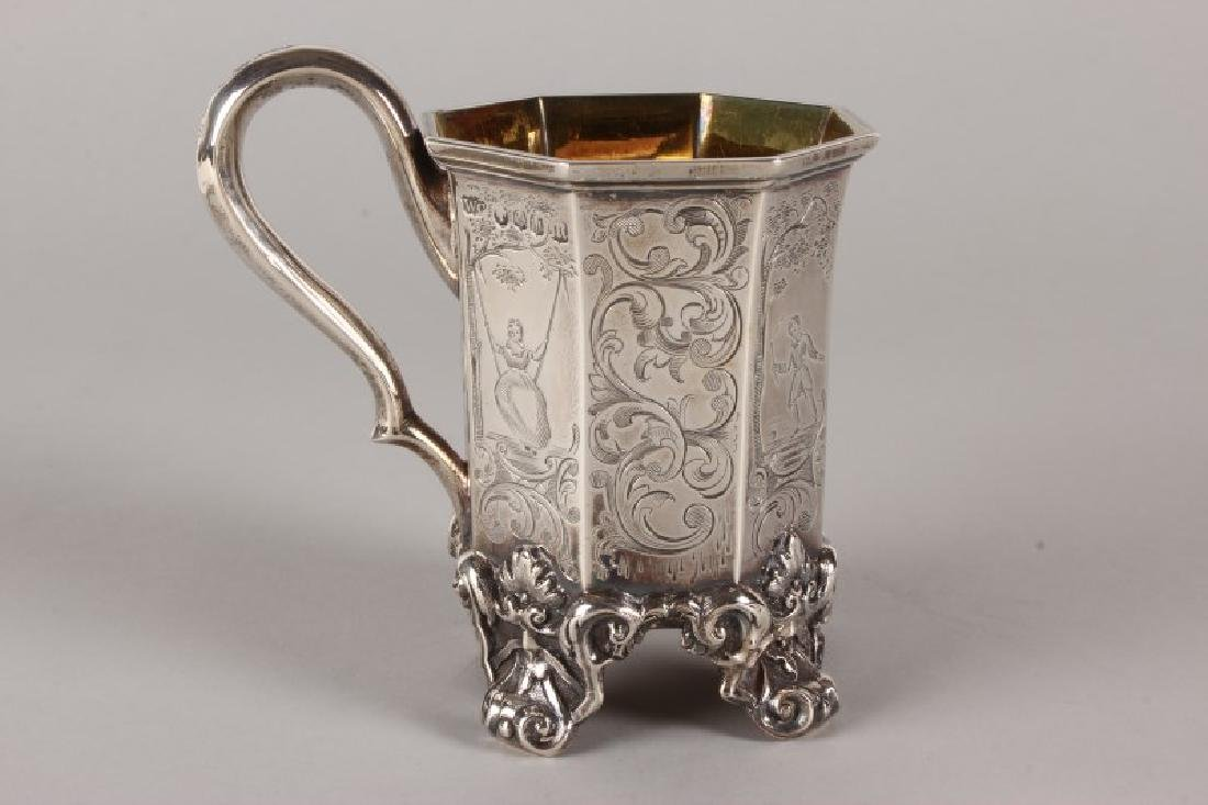 Victorian Scottish Sterling Silver Footed Tankard,
