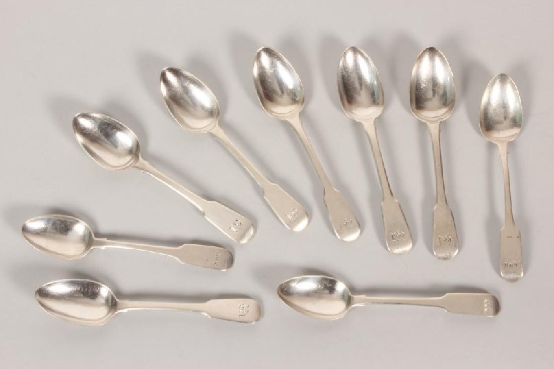 Set of Six George IV Sterling Silver Teaspoons,