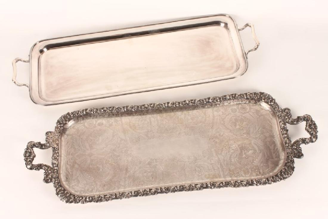 Handsome Twin Handled Silver Plate Tray,