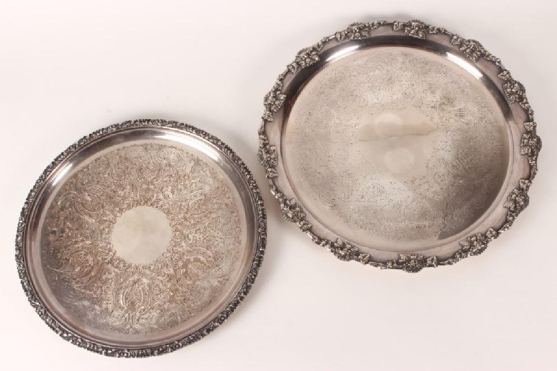 Large Silver Plate Salver,