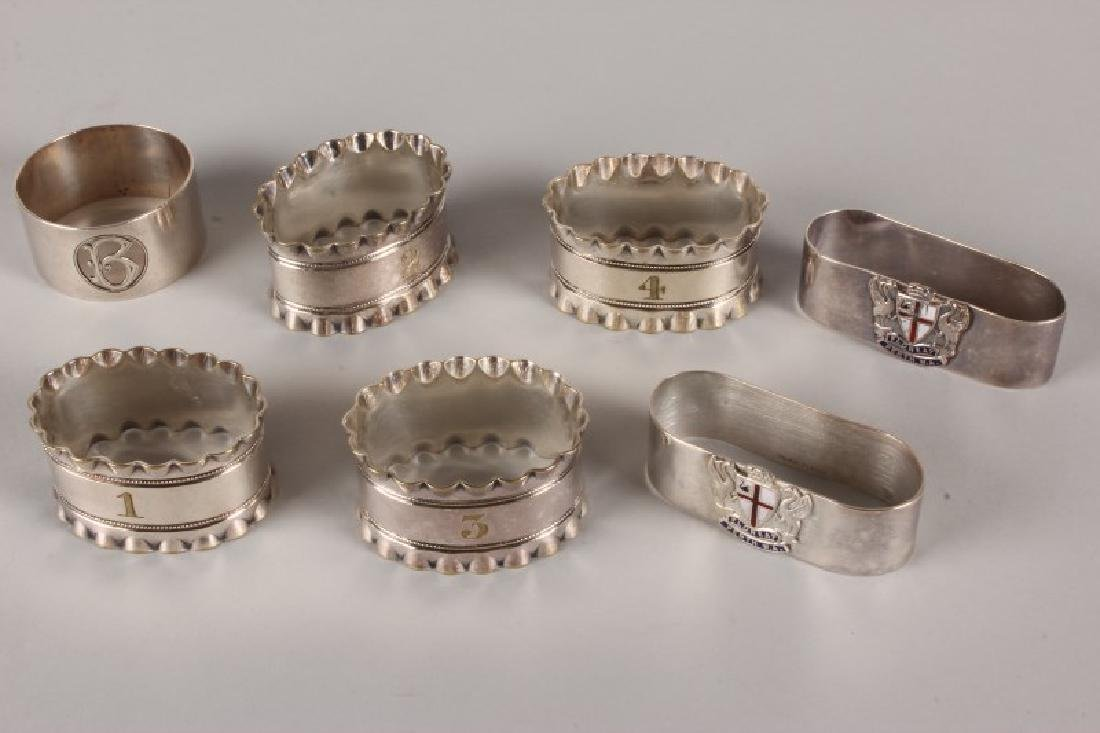 Set of Four Silver Plate Napkin Rings,