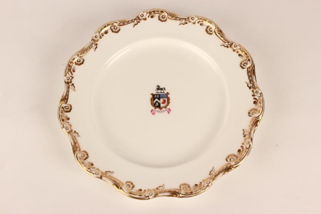 Set of Ten 19th Century English Armorial Plates,